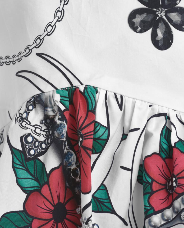 Блузка с цветочным принтом
