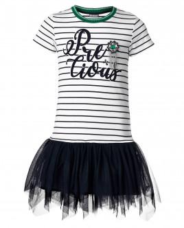 Платье с черной сеткой Gulliver OUTLET