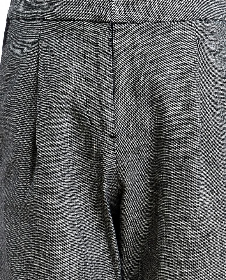 Серые брюки с лампасами