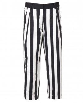 Укороченные полосатые брюки OUTLET