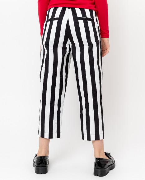 Укороченные полосатые брюки