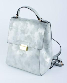 Серебристый рюкзак из искусственной кожи Gulliver