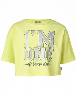 Желтая футболка с рукавом 3/4 Gulliver