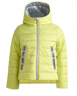 Лаймовая стеганая куртка Gulliver