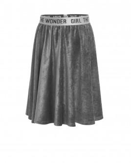 Серая велюровая юбка OUTLET