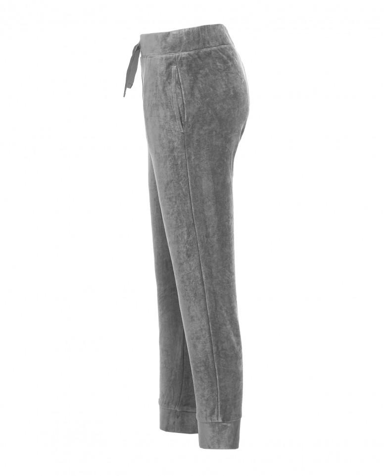 Серые велюровые брюки