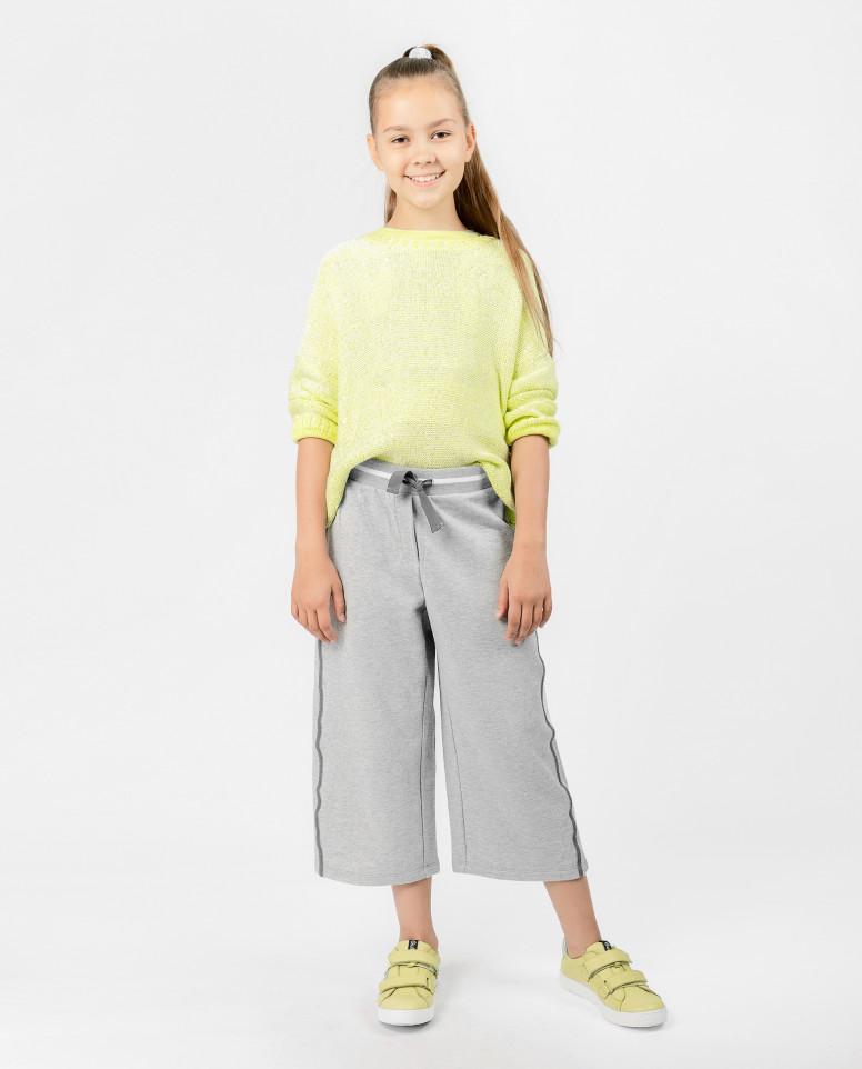 Серые брюки с люрексом