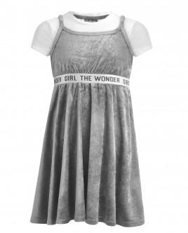 Велюровый сарафан с футболкой OUTLET