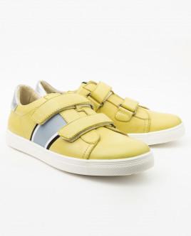Желтые кожаные кеды Gulliver
