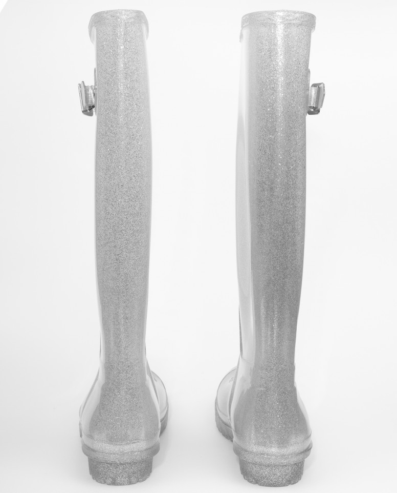 Серебристые резиновые сапоги Gulliver