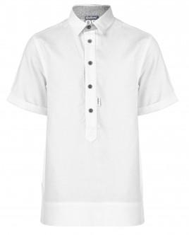 Белая рубашка с коротким рукавом OUTLET