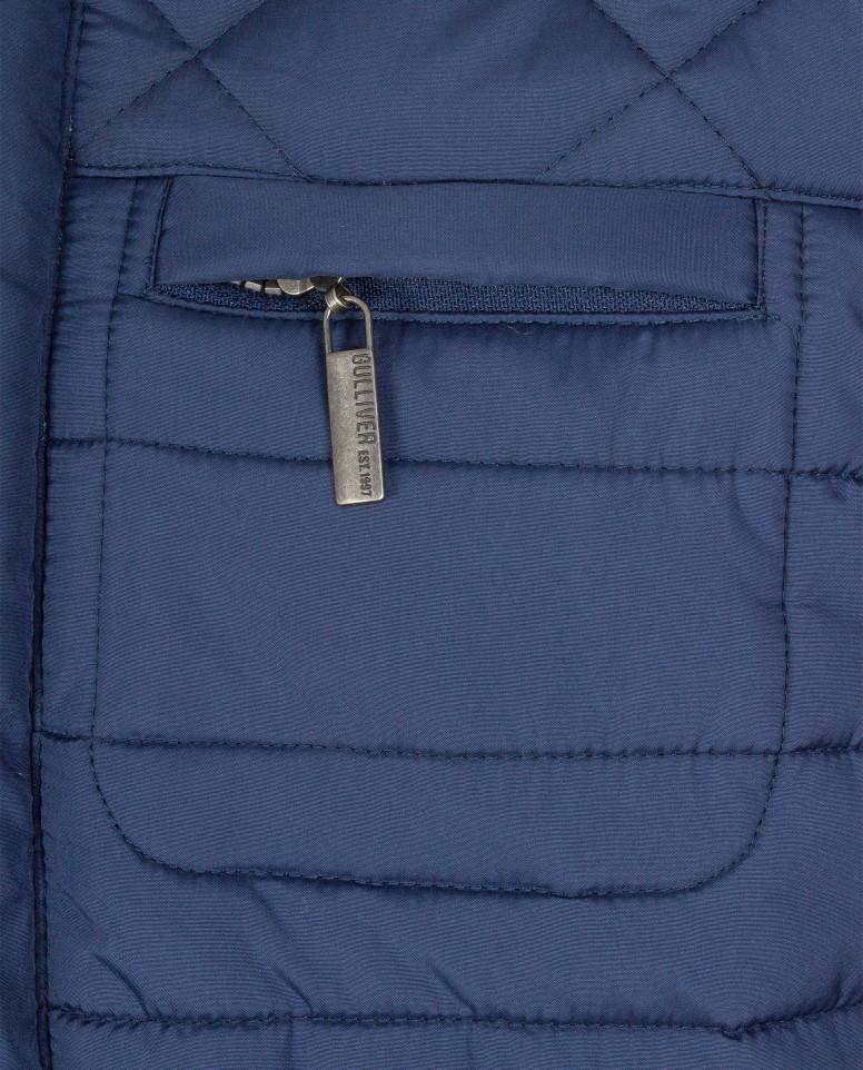 Синяя стеганая куртка