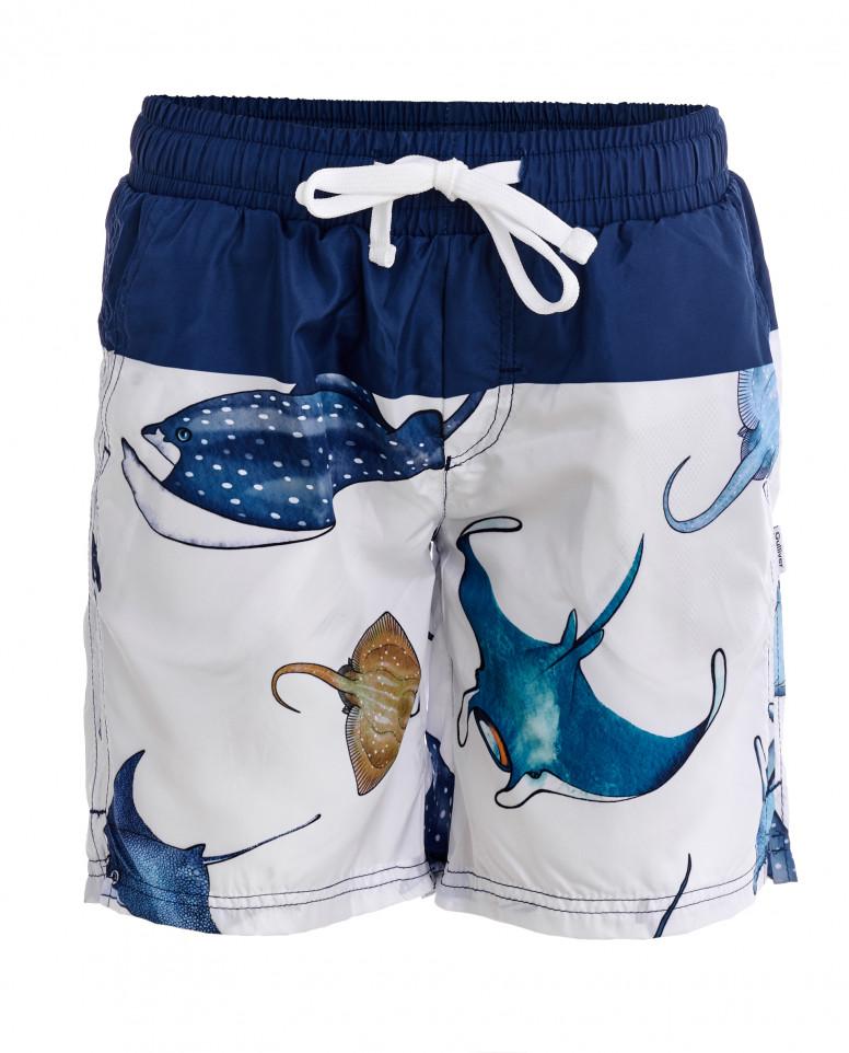Плавательные шорты с орнаментом Электрические скаты