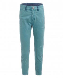 Бирюзовые прямые брюки OUTLET