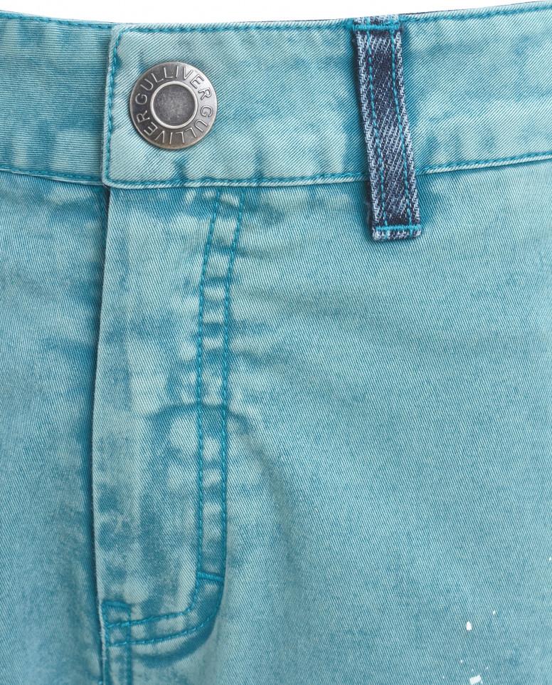 Бирюзовые прямые брюки