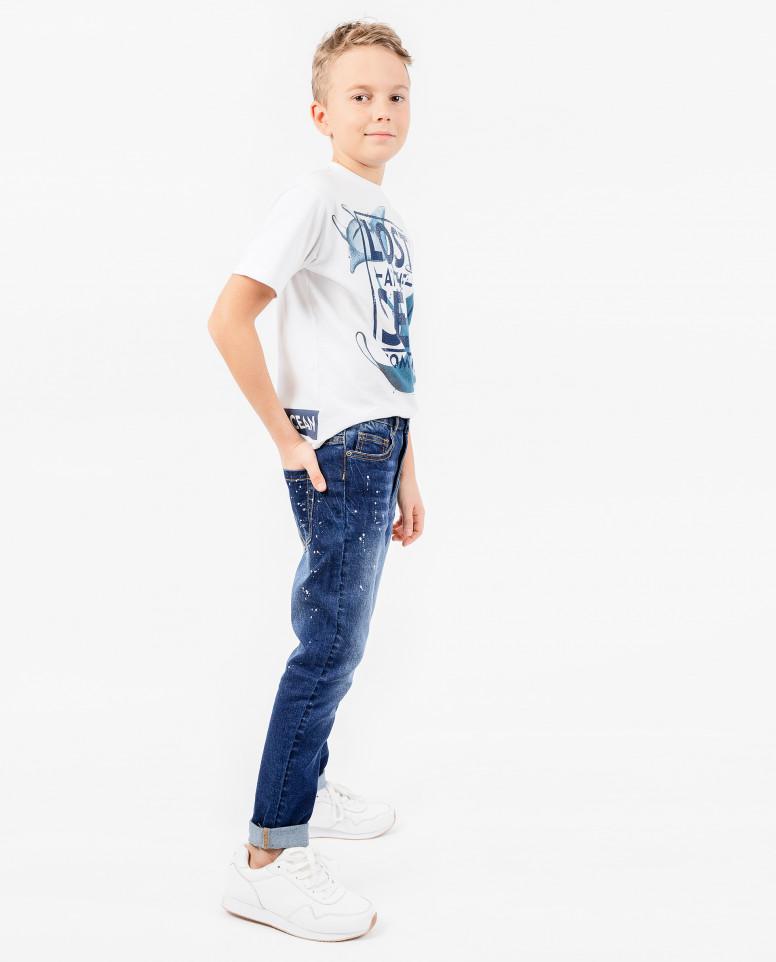 Синие узкие джинсы