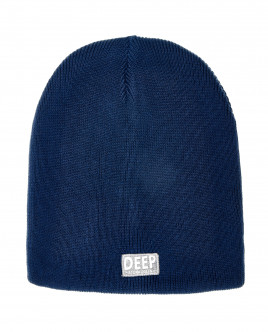 Синяя вязаная шапка OUTLET