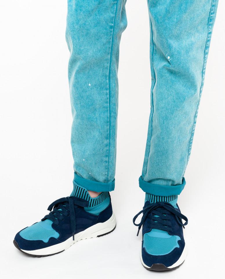 Синие замшевые кеды