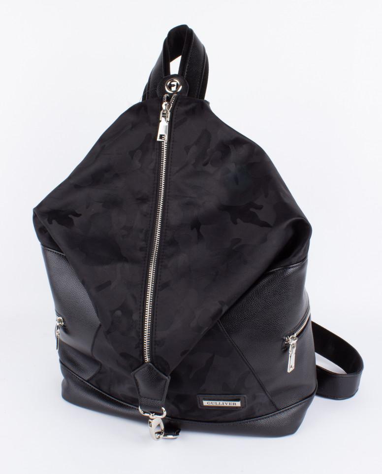 Черный городской рюкзак