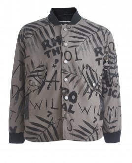 Рубашка цвета хаки с принтом OUTLET