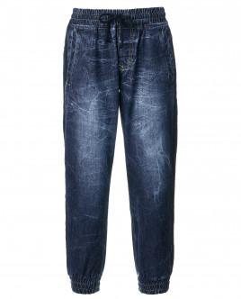 Синие тонкие джинсы OUTLET