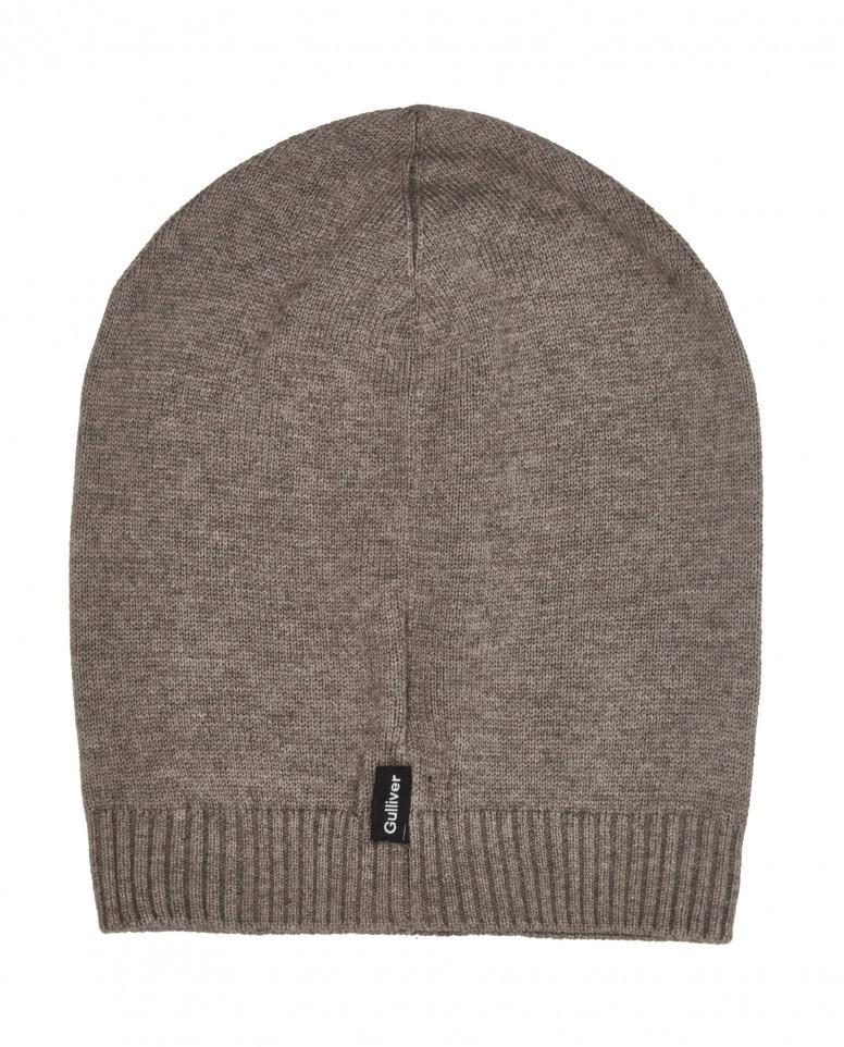 Вязаная шапка цвета хаки