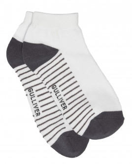 Gray and white socks Gulliver