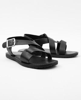 Черные кожаные сандалии Gulliver OUTLET