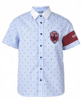 Полосатая рубашка с коротким рукавом Gulliver OUTLET