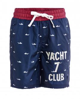 Синие плавательные шорты с орнаментом Акулы OUTLET