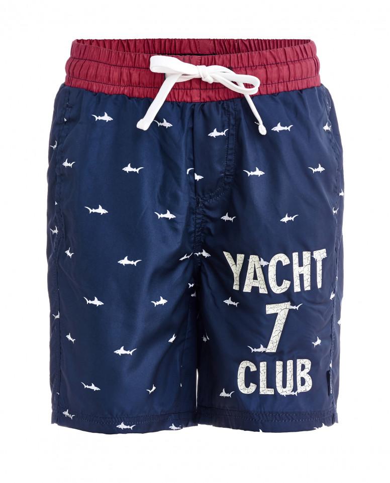 Синие плавательные шорты с орнаментом Акулы
