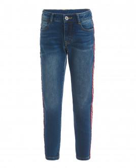 Голубые джинсы с лампасами OUTLET