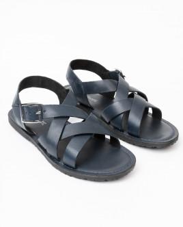 Синие кожаные сандалии Gulliver OUTLET