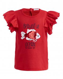 Красная футболка с крылышками OUTLET