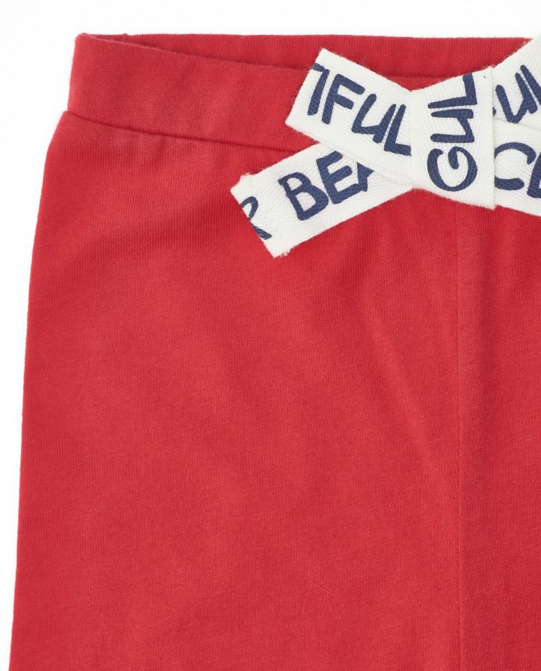 Красные легинсы с бантиком