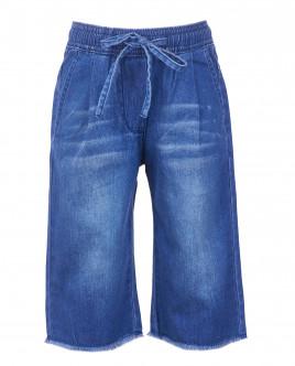Кюлоты из тонкой вареной джинсы OUTLET