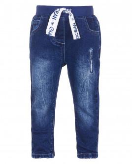 Синие джинсы на резинке OUTLET