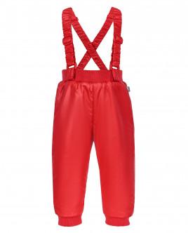 Красные утепленные демисезонные брюки Gulliver OUTLET