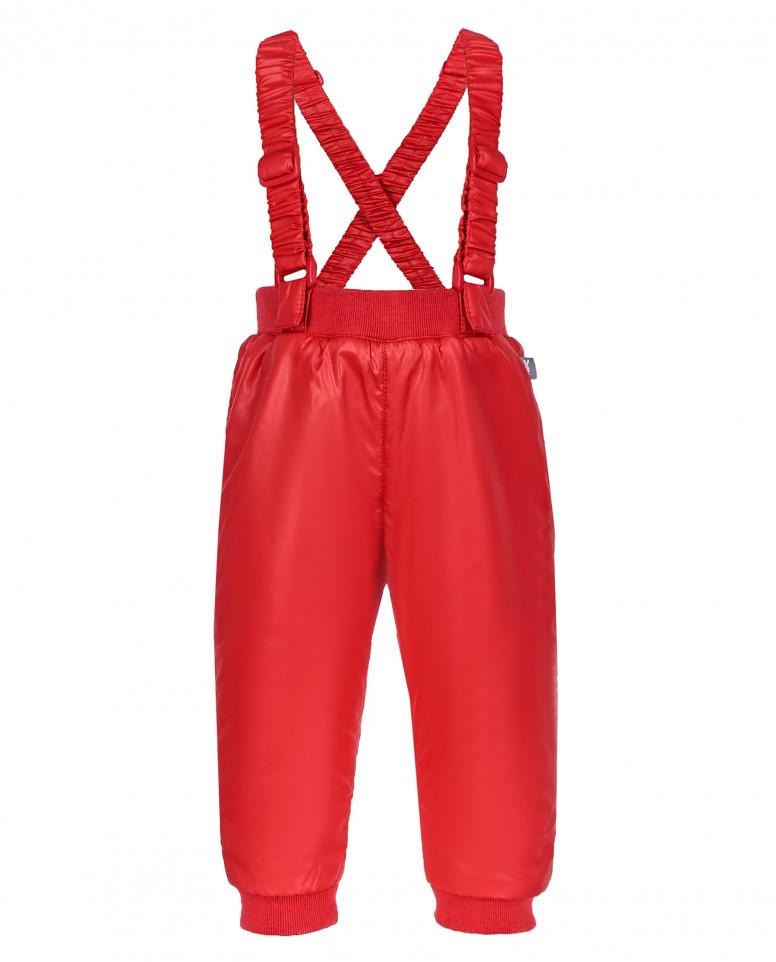 Красные утепленные демисезонные брюки