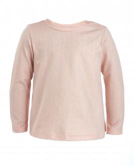 Розовая футболка с перламутровым напылением OUTLET