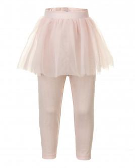 Розовые легинсы с юбкой из сетки OUTLET
