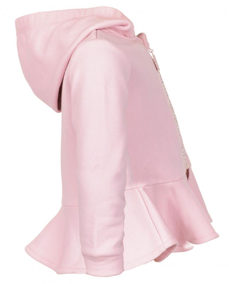 Розовая толстовка с золотистым напылением
