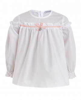 Белая блузка с бантом Gulliver OUTLET