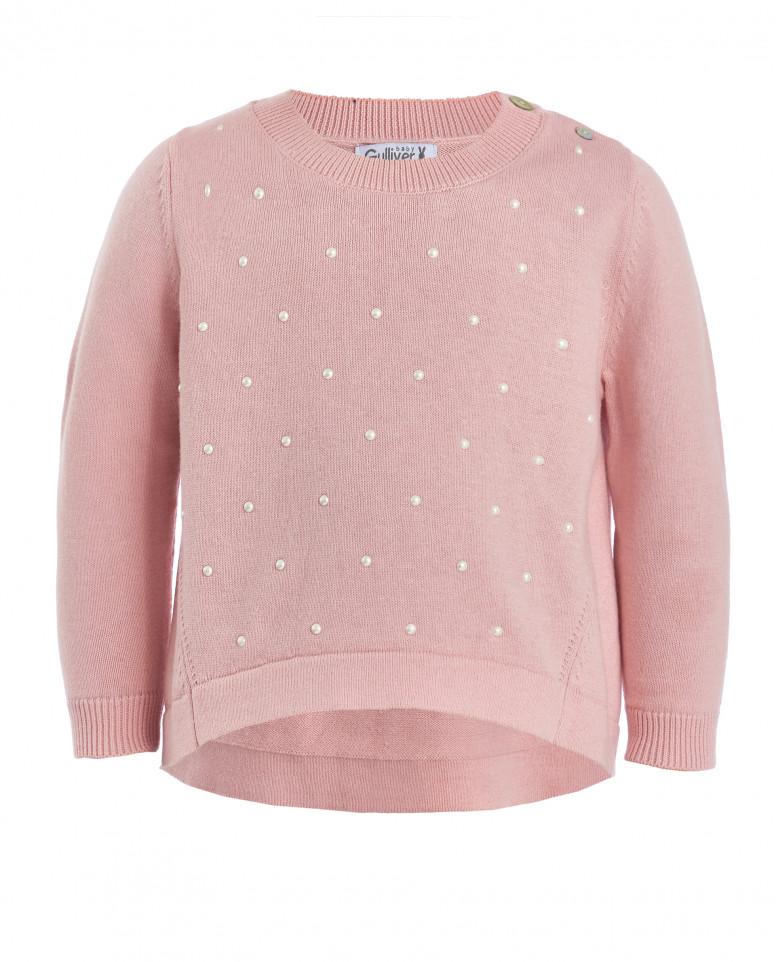 Розовый вязаный джемпер