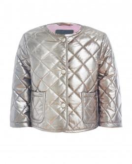 Золотистая стеганая куртка OUTLET