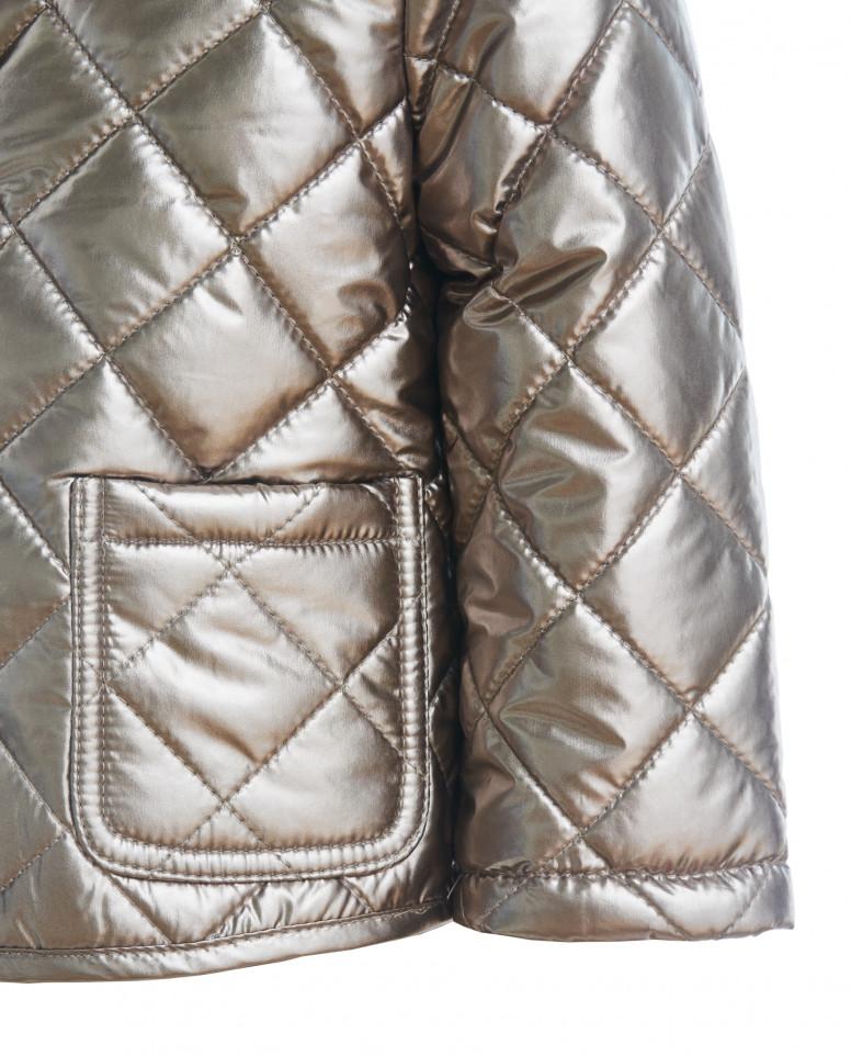 Золотистая стеганая куртка