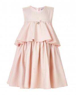 Розовое платье с золотистым напылением OUTLET