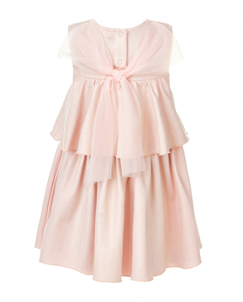 Розовое платье с золотистым напылением
