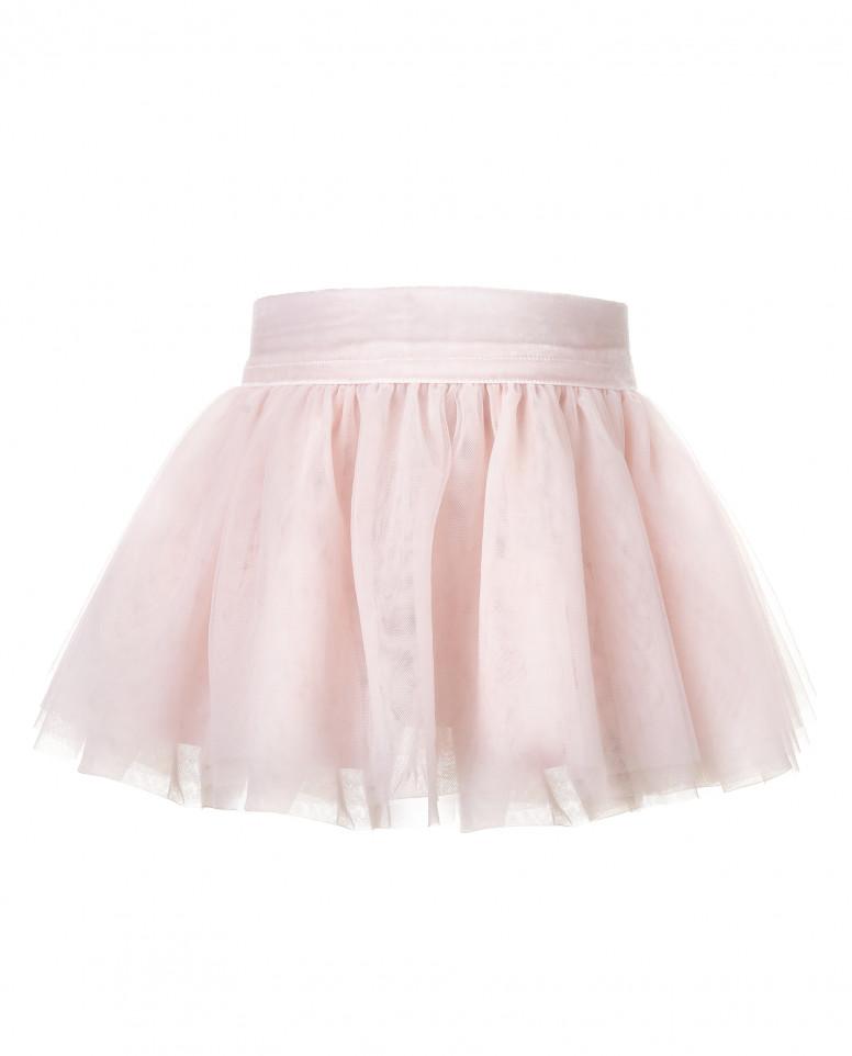 Розовая юбка из сетки