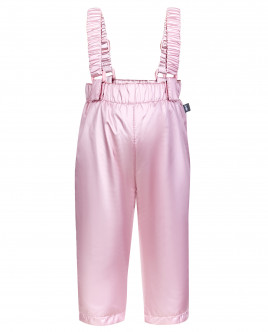 Розовые утепленные демисезонные брюки OUTLET
